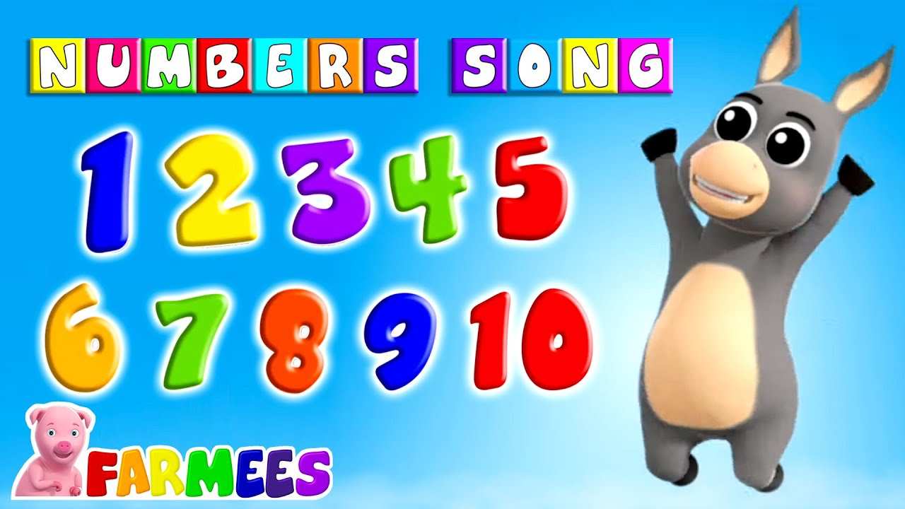 Numbers Song   Count Numbers   1 to 100   Alphabet A to Z   Preschool Songs for Kids - Farmees
