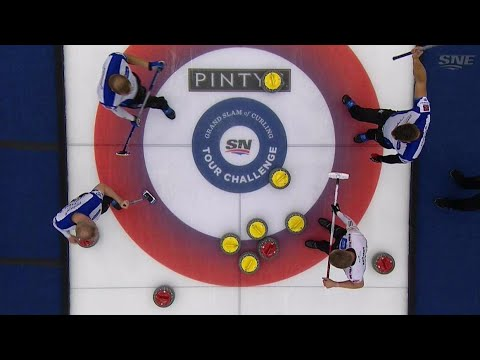 Gushue makes insane double takeout to score five
