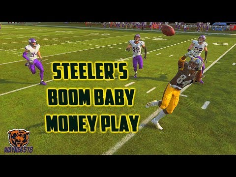 Madden 19 One Play Touchdown Best Money Play for Steelers