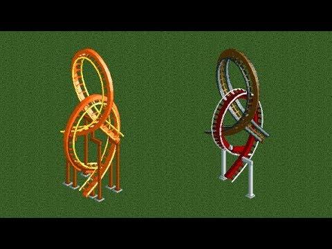 RCT2 Tutorial How to build interlocking vertical loopings