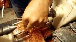 Turning Hard Rubber Pen Barrels.
