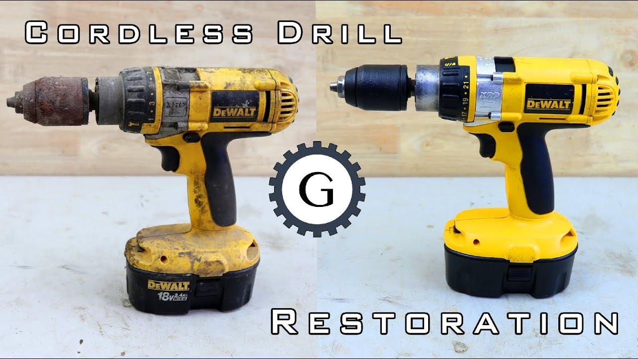 Cordless Drill Restoration   Dewalt XRP 18V TYPE 1