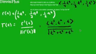 Ecuación de un plano osculador paralelo a otro parte 1