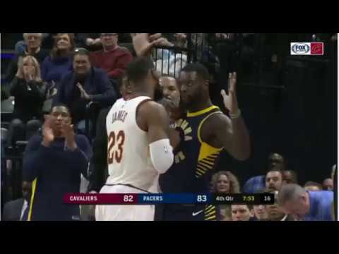 Stephenson gets in LeBron's face
