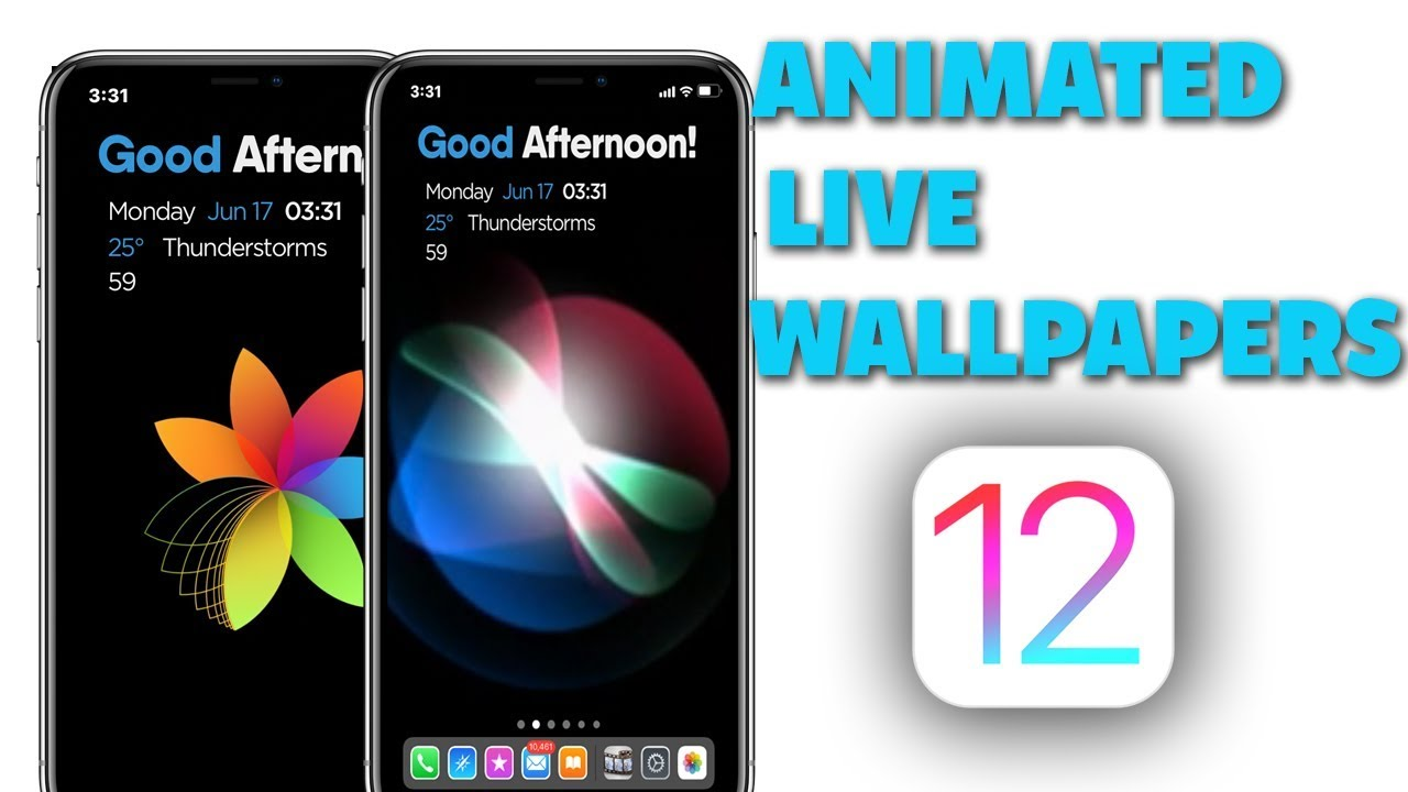 My ANIMATED LIVE WALLPAPERS On iOS 12