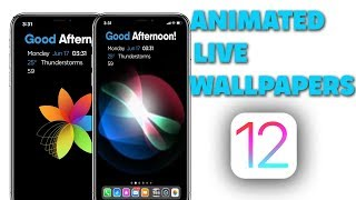 My ANIMATED LIVE WALLPAPERS On iOS 12 - iPhone & iPad