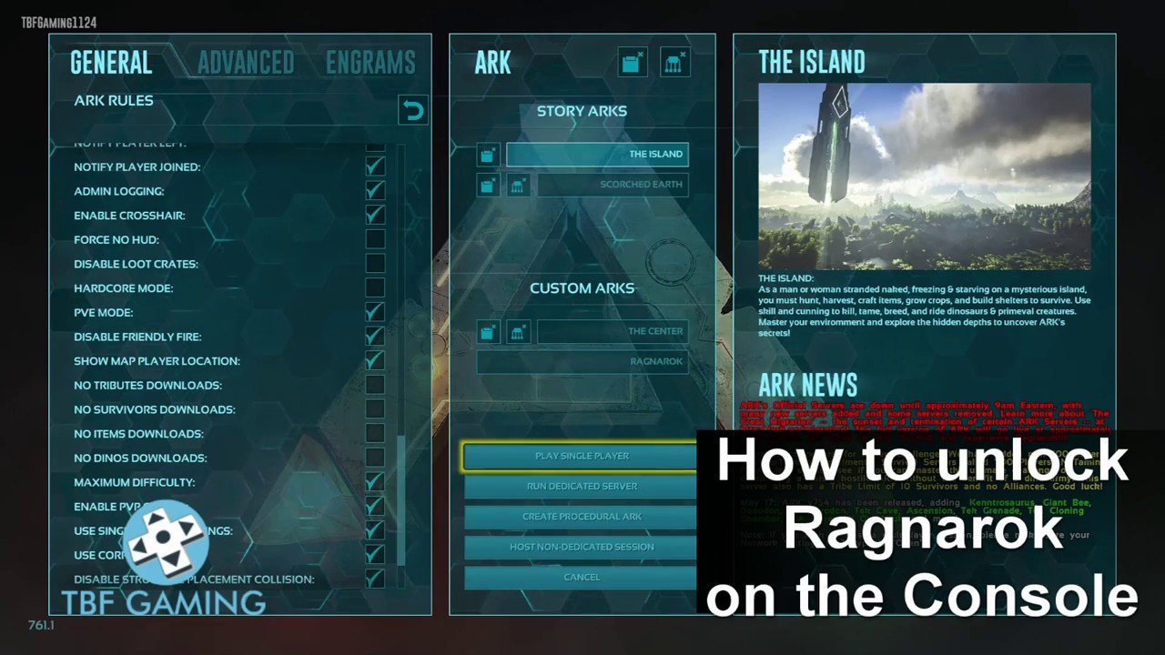 How to unlock Ragnarok PS4 / Xbox One using commands - Ark Survival Evolved  Official release