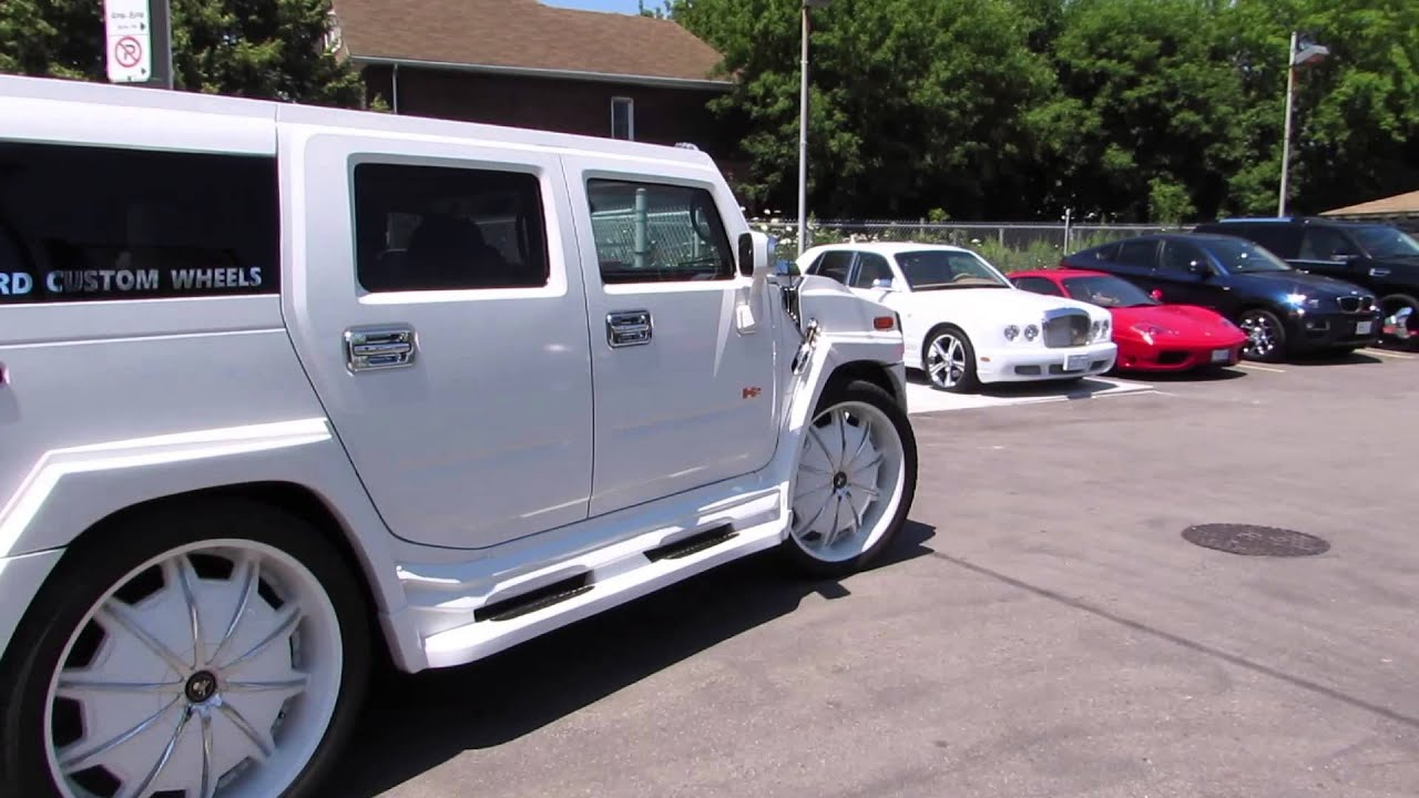 Worlds Most Expensive Hummer H2 34 Inch Rims Big Wheels