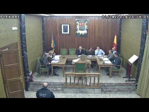 Plenari Ordinari Ajuntament de Manuel 28/01/2019