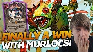 Finally GETTING A WIN w/ MURLOCS! | Hearthstone Battlegrounds | Savjz