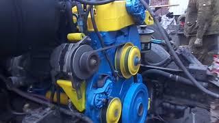 Первый запуск двигателя после переборки Интер 4300
