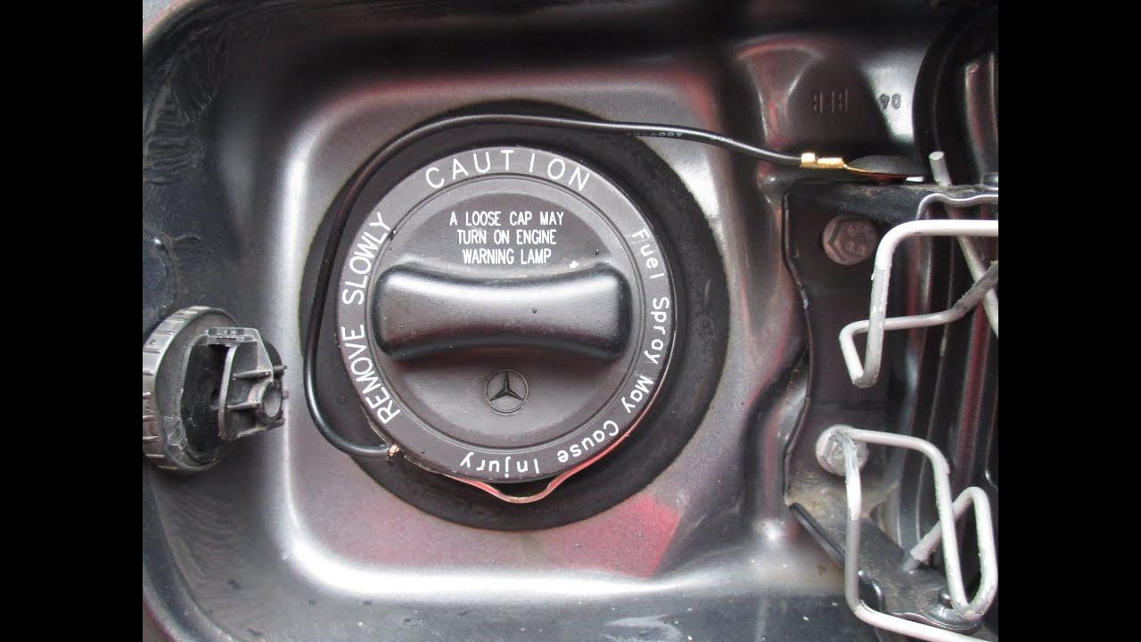 Mercedes Gas Cap Lanyard Repair Youtube