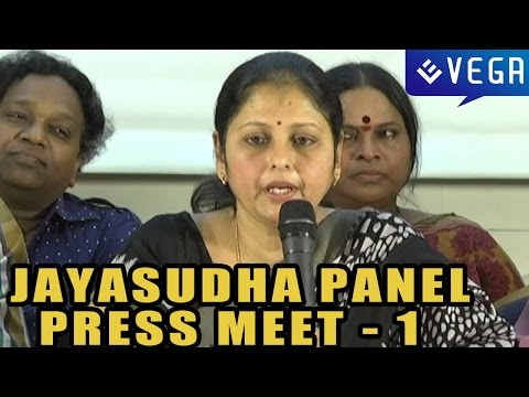 Jayasudha Panel Press Meet : Part 1 : MAA Elections 2015