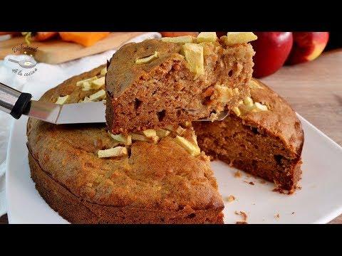 Pastel de manzana, zanahoria y calabaza sin azúcar. Receta fácil y deliciosa. Blogueros cocineros