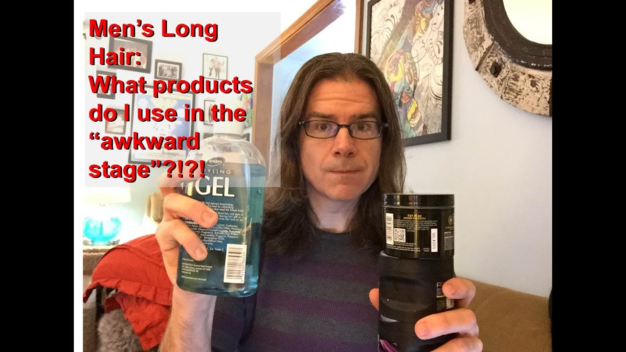 Hair Styling Products For Long Hair Delectable Men's Long Hair Products To Use In The Growing Stages Youtube