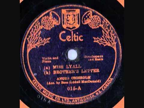 Angus Chisholm Celtic 015 78 rpm Cape Breton Fiddle
