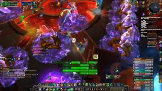 WoW Fist - Mistweaver Heal Monk Antorus, the Burning Throne Raid The Coven of Shivarra Mythic POV