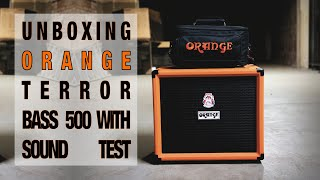 Orange Terror Bass Unboxing And Sound Demo