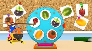 Уроки з Винтиком 3D Фрукти - Ягоди - Овочі- мультфільми українською 02