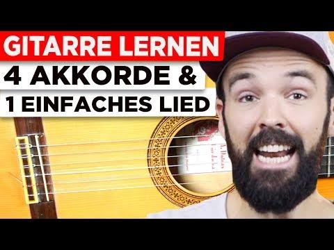 Gitarre lernen - 4 Akkorde, 1 einfaches Lied & weitere Tipps - einfach & auf deutsch