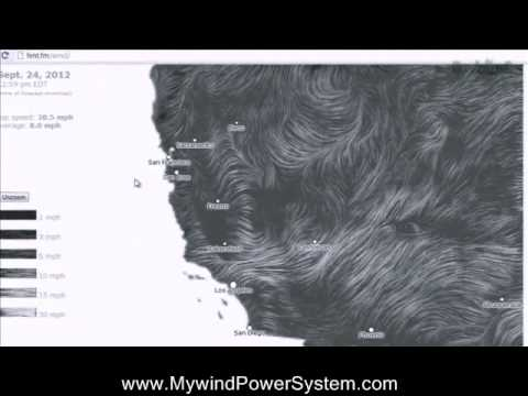 Wind Map for USA in Real Time