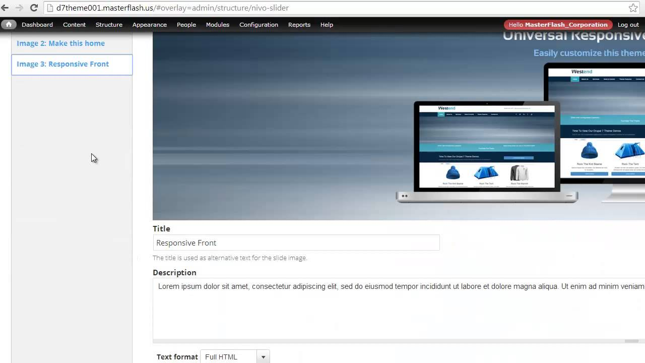 Drupal 7 WestEnd Theme Nivo Slider Instructions