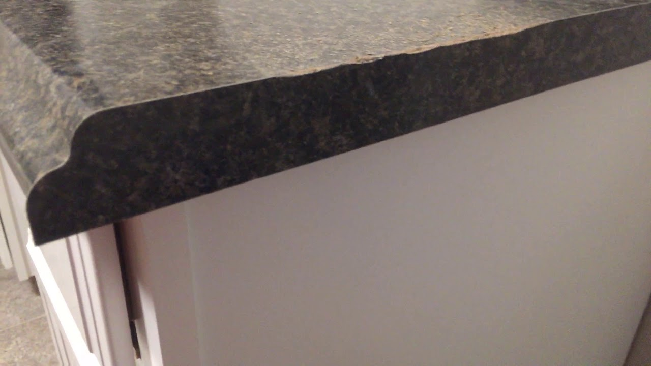 How To Trim A Laminate Countertop Edge Youtube