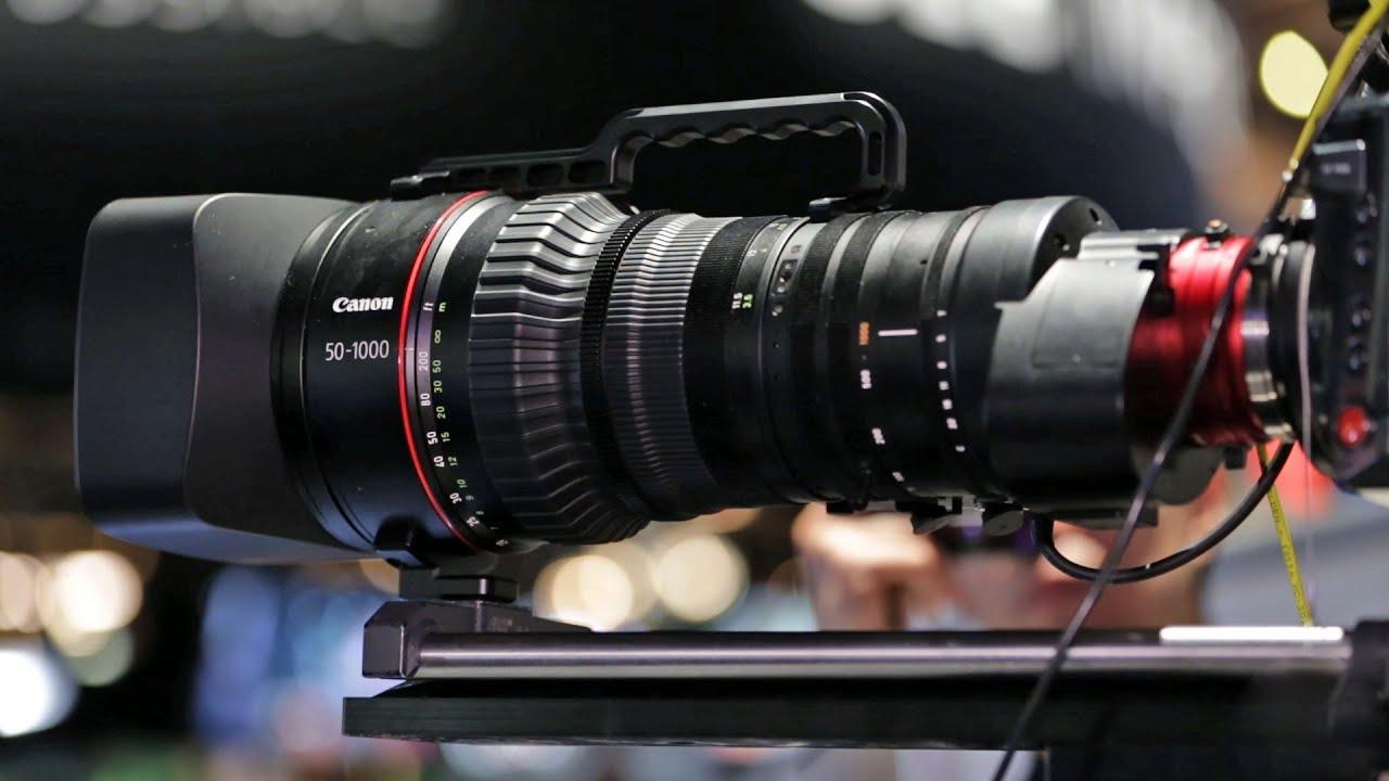 NAB 2015: Canon CINE-SERVO 50-1000mm Zoom Lens - YouTube