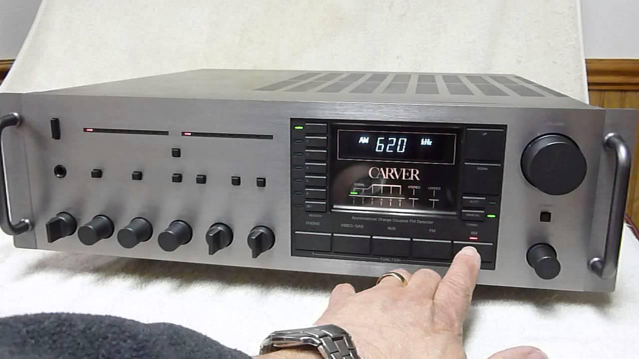 audrad s carver mxr 130 receiver performance run youtube rh youtube com Carver Audio Website Carver Amplifier Rebuild