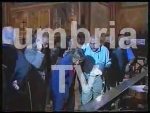 Video e audio originale del crollo della Basilica di Assisi original version - Terremoto