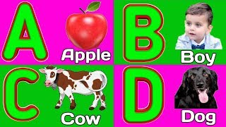 A For Apple B For Ball| A to Z Alphabets | ABCD Song | Hindi varnamala| hindi Alphabets