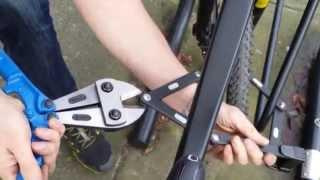 Repeat youtube video Abus Bordo 6000 cut part 3 - Link pin sheared in 1:30