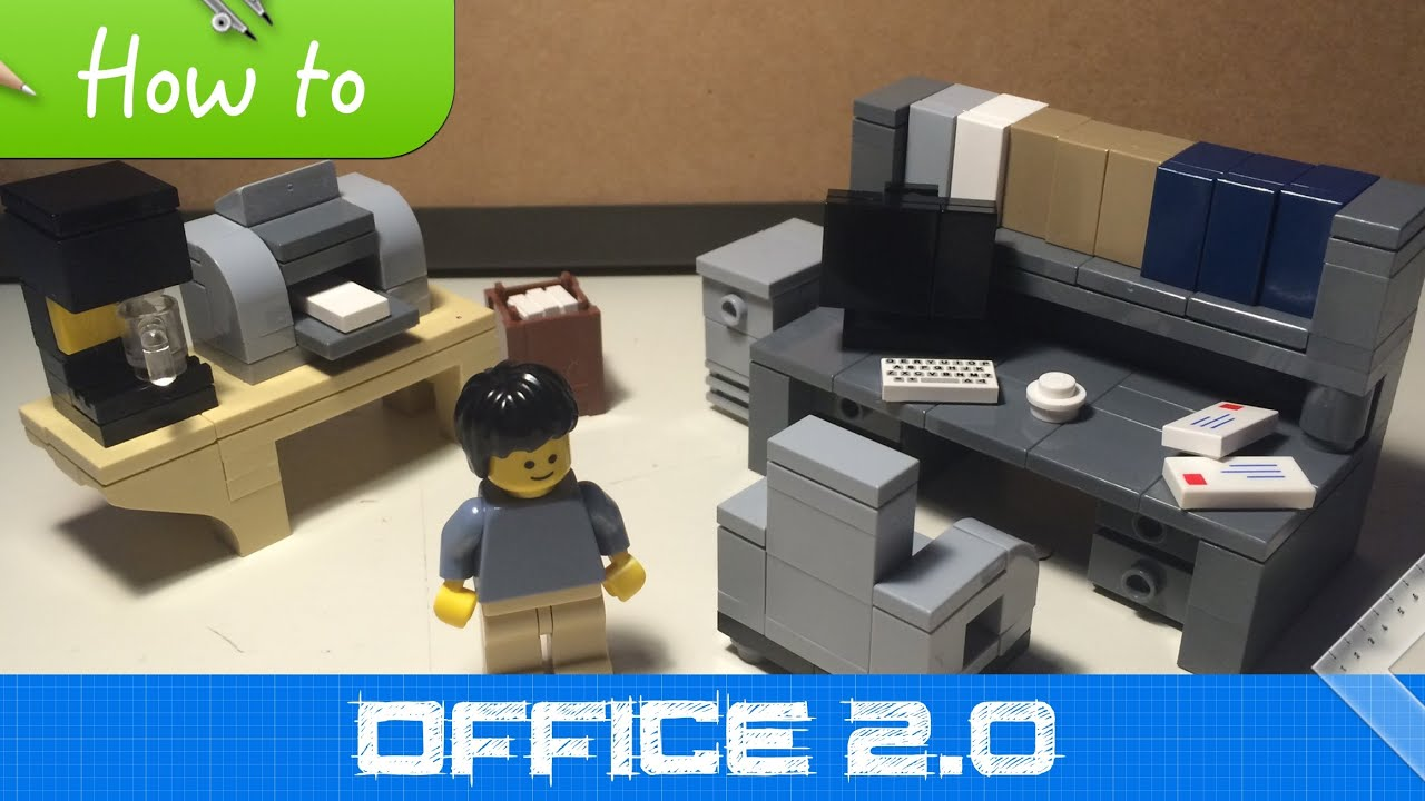 How To Make LEGO Office Furniture (MOC 2.1 Extended Collection)   YouTube