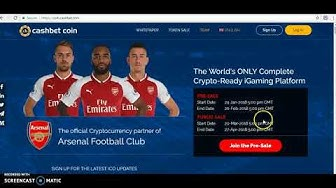 CASH BET ICO! ONLINE CASINO ALREADY PARTNERED WITH ARSENAL!