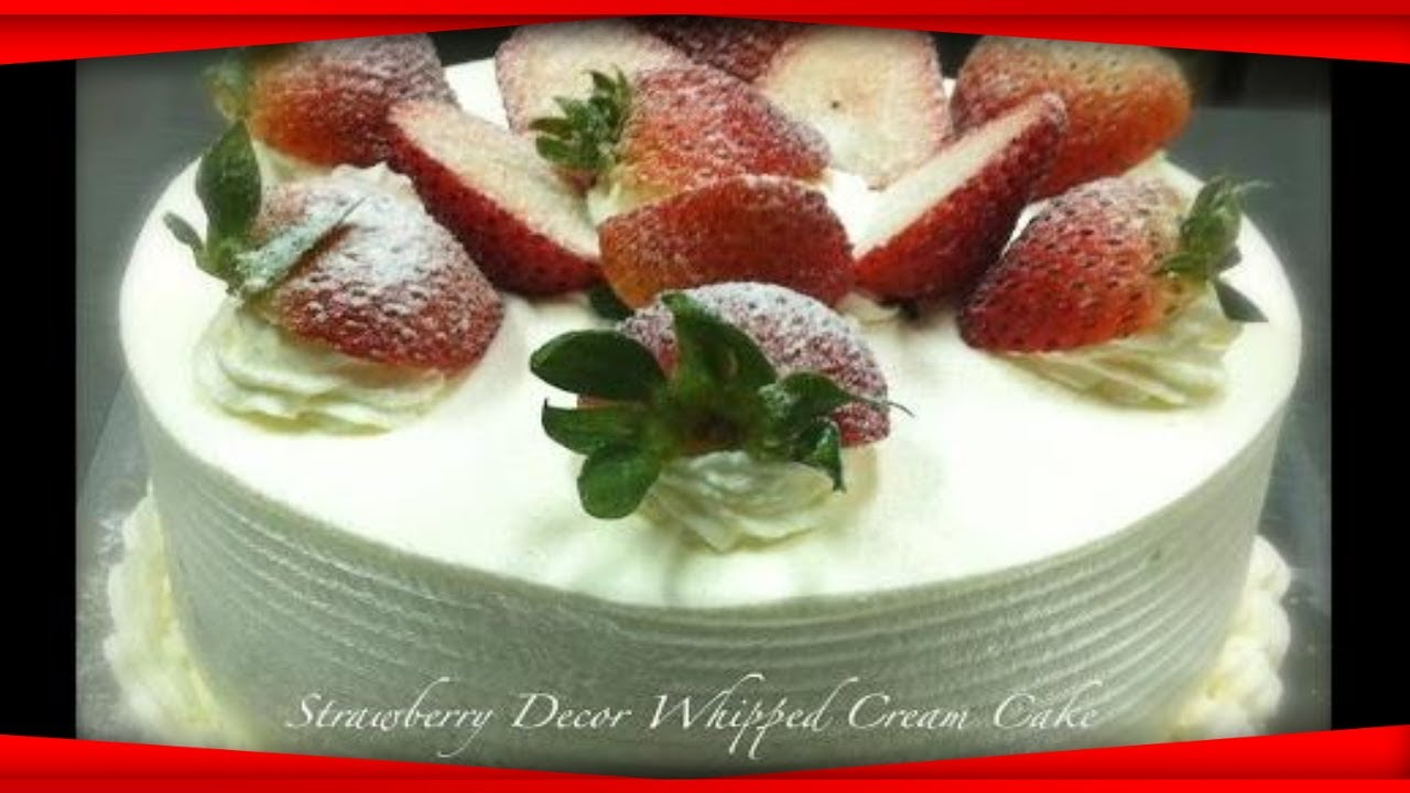 How to make a fruit and sponge cake with whipped cream Recipes R