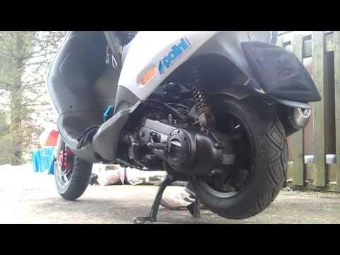 piaggio zip 80cc 4t (4 stroke) first start - youtube