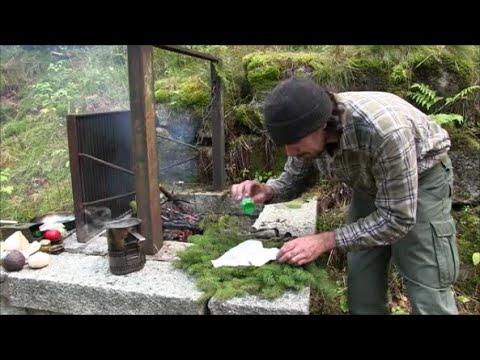 Gebratener Fisch vom Grillrost. Wandern und kochen im Schwarzwald.