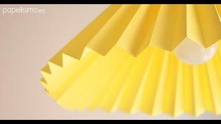 Cómo hacer lámpara de papel (tipo origami)