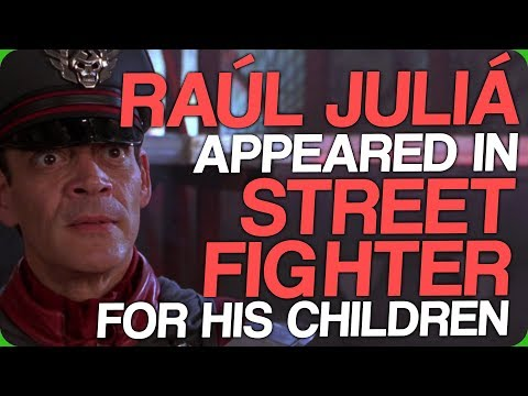 Raúl Juliá Appeared in Street Fighter for His Children My Friend's Dance Move