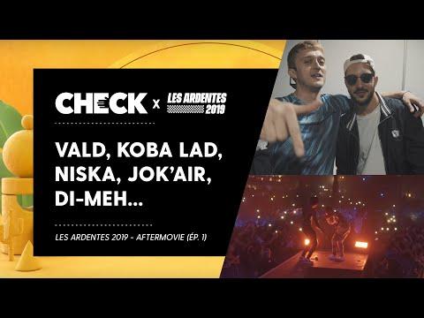 Youtube: Avec Vald, Koba LaD, Niska, Jok'air, Di-Meh, Slim Lessio, 47ter… aux Ardentes 2019 (Épisode 1)