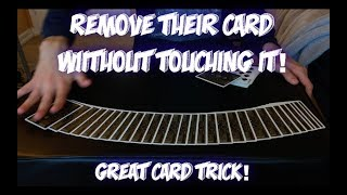 Remove Their Thought Of Card From BETWEEN THEIR HANDS! Awesome Card Trick Performance And Tutorial!