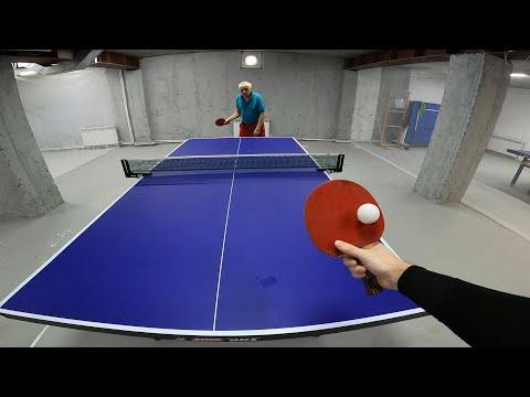 НАСТОЛЬНЫЙ ТЕННИС ОТ ПЕРВОГО ЛИЦА | PING PONG FIRST PERSON | TABLE TENNIS | MY START TRAINING WAY