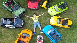 ALİ'NİN ARABA PARKI Huge POWER WHEELS Collection Ride On Cars for Kids