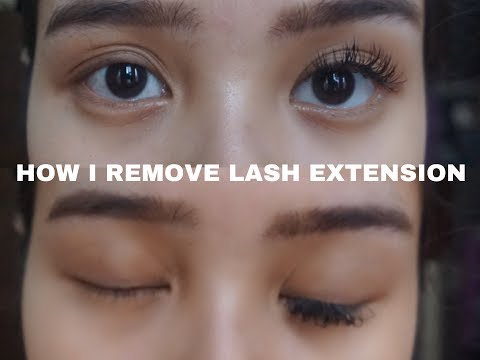 CARA MELEPAS LASH EXTENSION DI RUMAH | HOW I REMOVED LASH EXTENSION