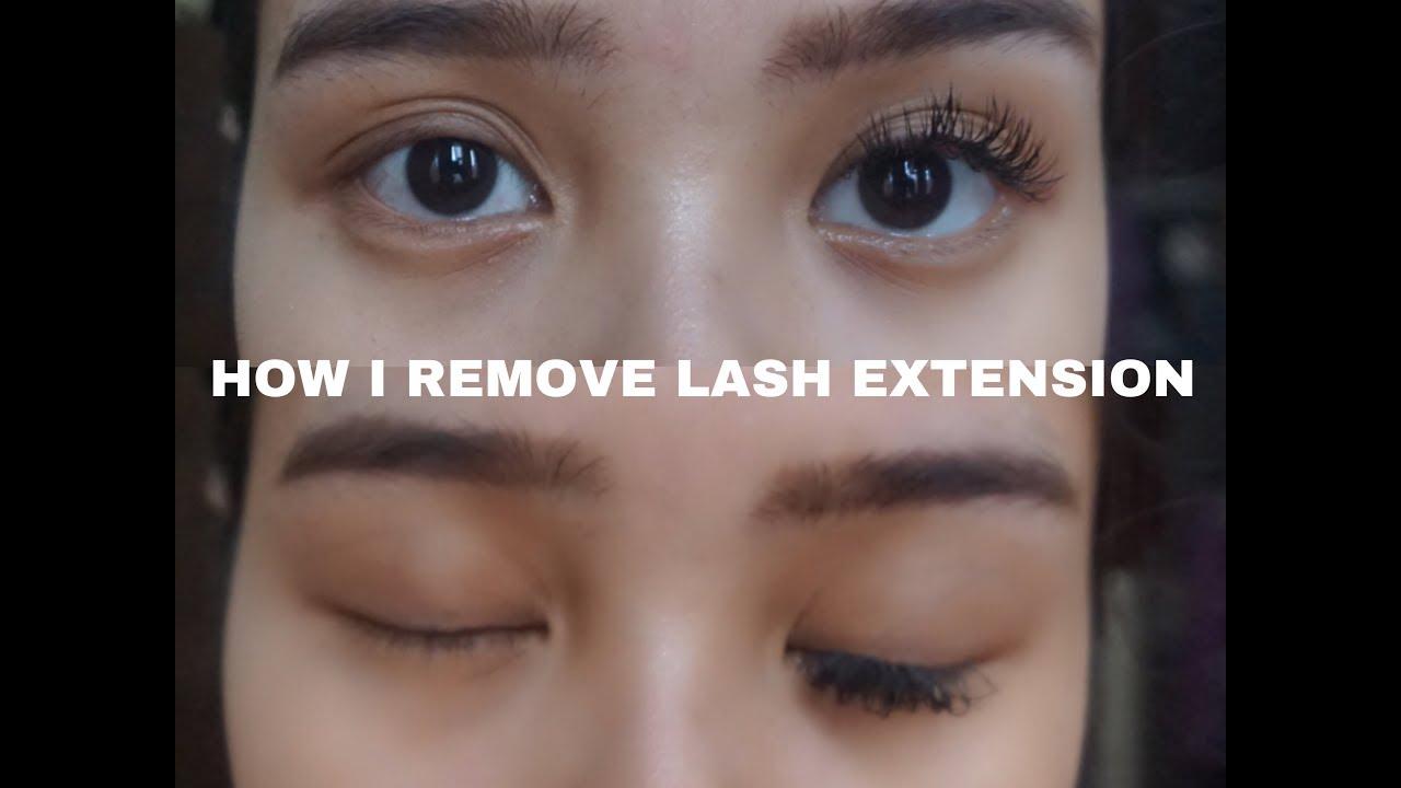 Cara Melepas Lash Extension Di Rumah How I Removed Lash Extension
