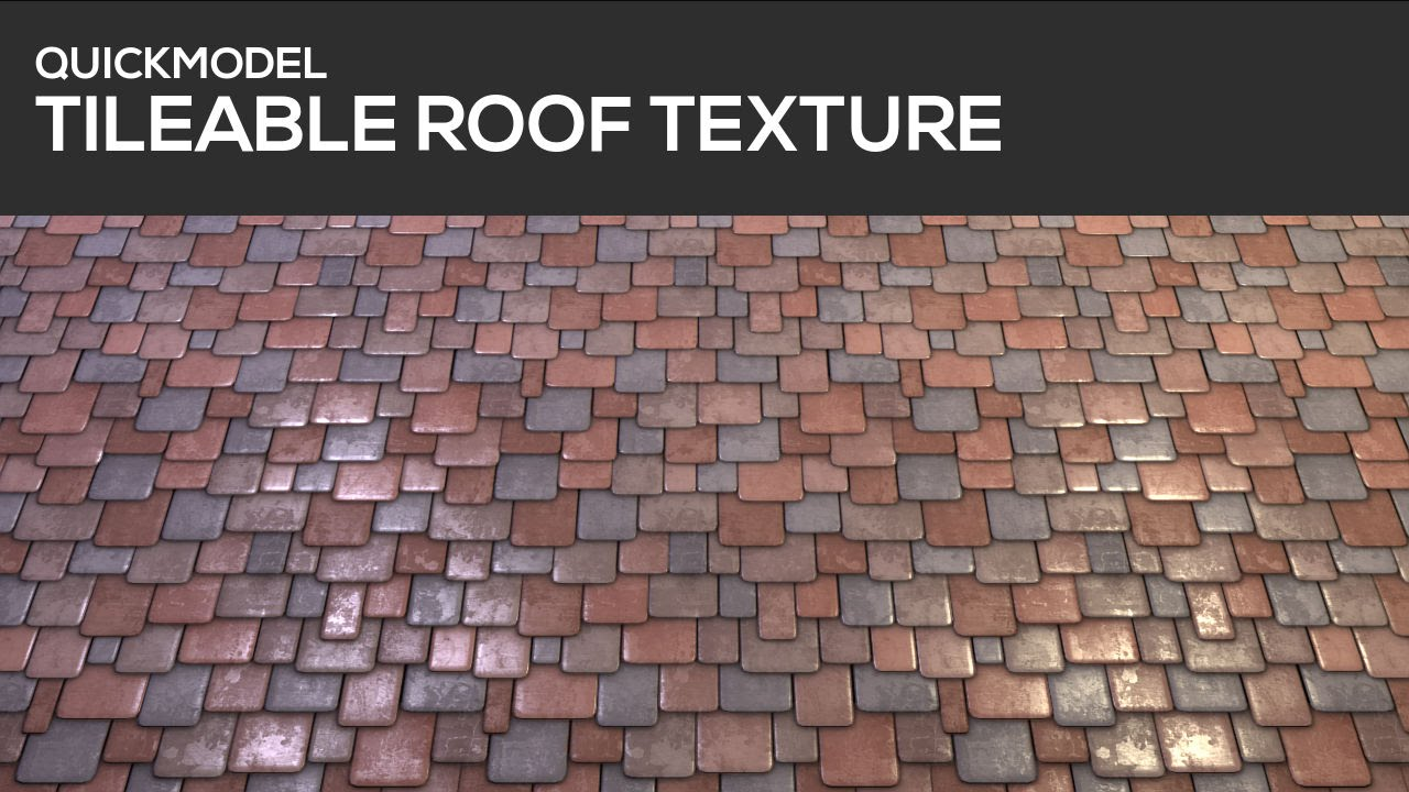 Brick Roof Texture quickmodel - tileable roof texture - youtube