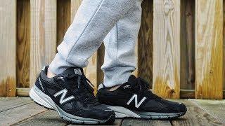 "New Balance 990v4 ""Black/Silver"" ON FEET"