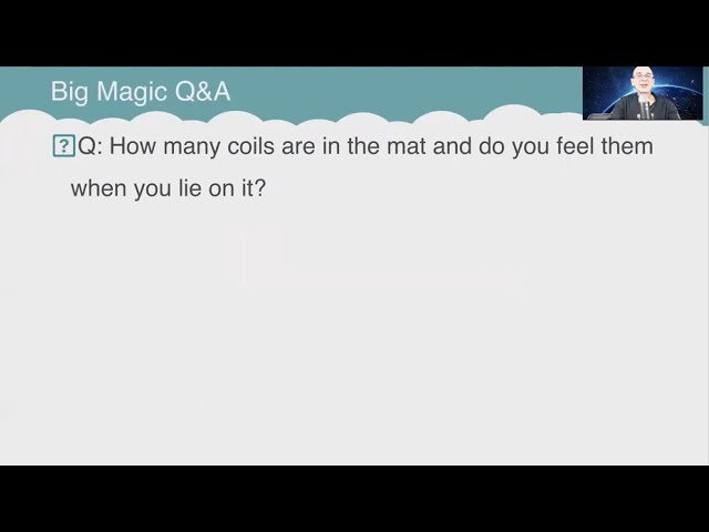 Q&A: How many coils are in the mat and do you feel them when you lie on it?