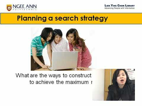 Lim Bee Ang Information Services How to conduct a Strategic Search