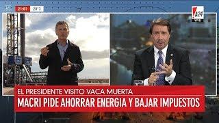 """""""Macri pide ahorrar energía y bajar impuestos"""", en """"El noticiero A24"""" de Feinmann - 23/04/18"""